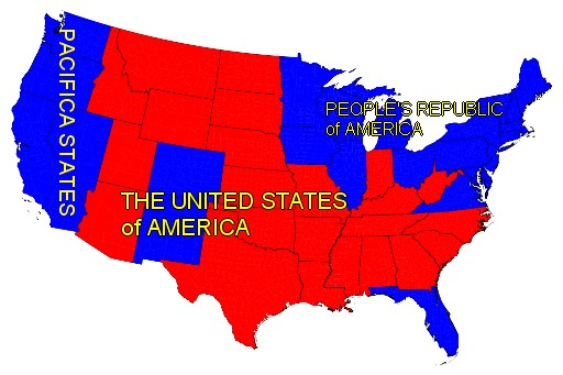 Map of Secession, USA 2012