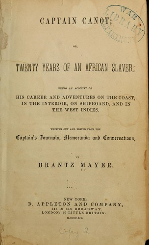 Download Captain Canot, or, Twenty years of an African slaver