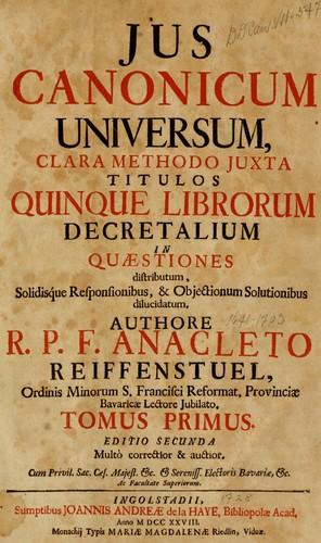 Download Jus canonicum universum