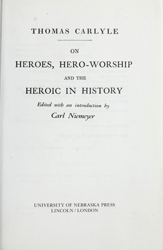 Download On heroes, hero-worship and the heroic in history