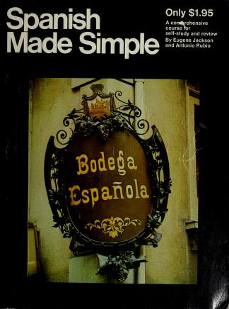 Cover of: Spanish Made Simple Edition   Eugene Jackson