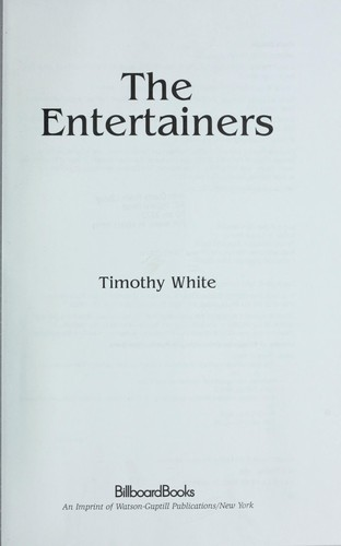 The entertainers by White, Timothy