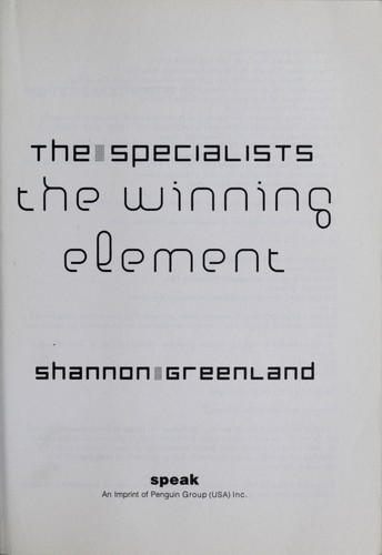 The specialists by Shannon Greenland